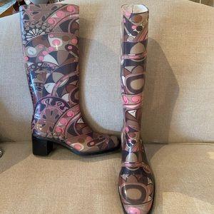 Emilio Pucci Floral Rain Boots